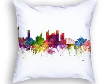 Sydney Pillow, Sydney Skyline, Sydney Cityscape, Throw Pillow, 18x18, Cushion, Home Decor, Gift Idea, Pillow Case 06