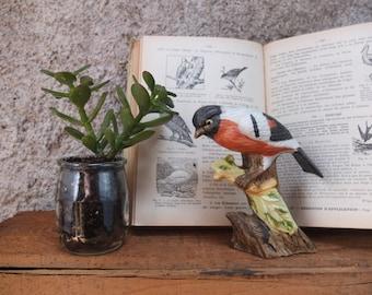 Earthenware bird / Nature / deco object / figure / Vintage