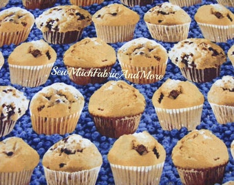 Blueberry Muffins on Blueberries Fabric~by the 1/2 yd~In the Mix~Windham Fabrics~Cotton~Food