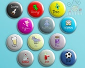 Personalised badges, keyrings or pocket mirrors by Doodle Dot