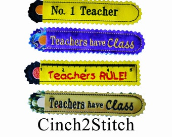 Teacher Appreciation - Nail File Cover - In The Hoop - Machine Embroidery Design Download (4x4 or 5x7 Hoop)