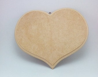 Heart shaped MDF hanging plaque
