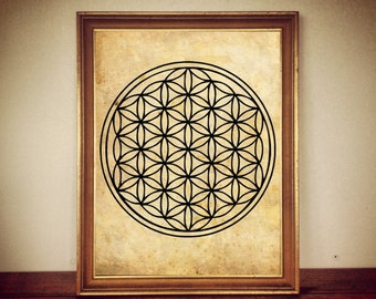 94# Flower of Life print, flower of Life poster, sacred geometry poster, sacred geometry print, magic decor, occult print, occult poster