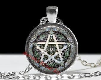 Pentagram jewelry, wiccan pendant, witch necklace, occult accessories, magic talisman, pagan amulet, witchcraft jewelry #111