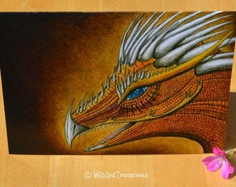 Fantasy Greetings Cards, Birthday Card, Dragon Art, Mythical Beasts, Dragon
