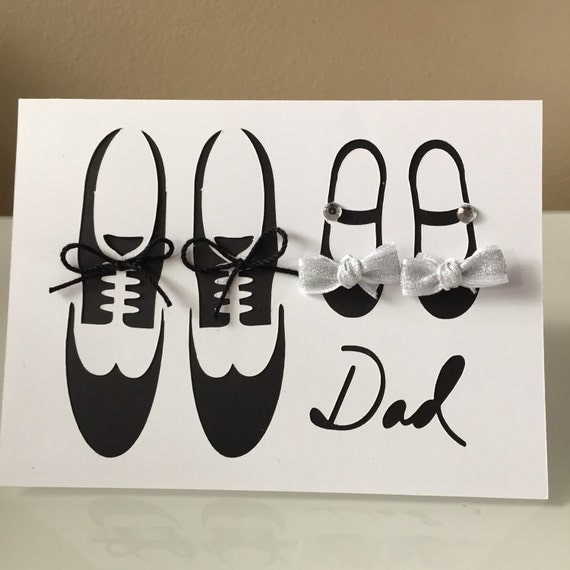 Happy Father's Day Card Dad Father and Daughter Shoes