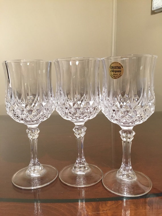 longchamp cristal d 39 arques wine glasses lead by thebellaruetique. Black Bedroom Furniture Sets. Home Design Ideas