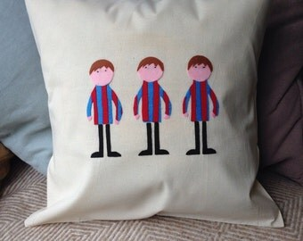 footballer cushion - strip can be personalised