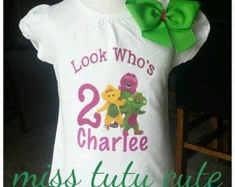 Barney 2nd  Birthday shirt!