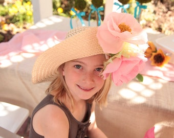 Little Girl Tea Party / Summer Hat