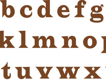 Alphabet Stencil - A to Z  Small to Large Reusable For Signs,     Fabric, Large Wall Art, Indoor , Outdoor, Weddings, Businesse