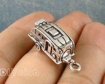 12pcs of Antique Tibetan silver Camper Trailer Charms pendants  27x10x10mm
