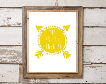 You Are My Sunshine 8x10 Print. Baby Girl. Baby Boy. Nursery. Home Decor. Wall Art. Baby Shower.