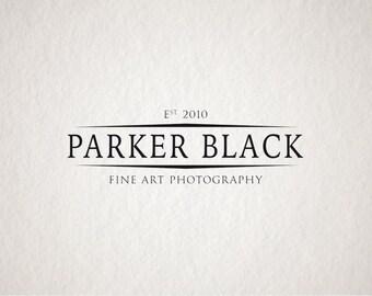 Photography Logo & Watermark - Premade logo - Business logo design - Company Logo - Fine art logo