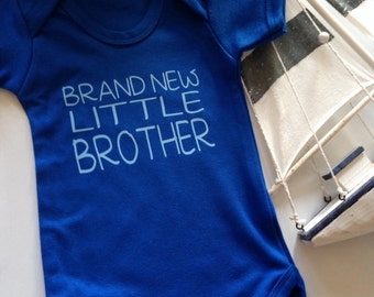 Brand new little Brother baby bodysuit vest baby-grow onesie baby boy new baby