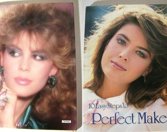 1985 10 Easy Steps TO PERFECT MAKEUP Disco Model Evening Big Hair