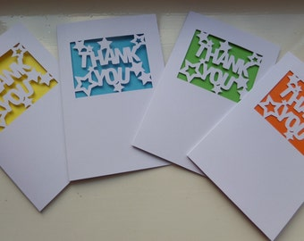 Thank You Cut Out Card