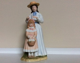 Mother and Daughter 'Getting Ready For Church'  Figurine, Homco.