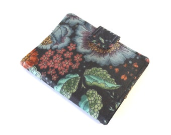 Vintage Chintz Business Card Holder, Fabric Card Case, Loyalty Card Wallet, Floral Womens Card Wallet
