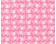 Spring Elephant Flannel Fabric - The Wild Bunch By Robert Kaufman Fabrics - Designer Fabric By the Half Yard