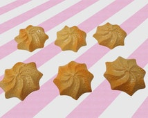 20mm Shortbread Star Cookies Decoden Cabochons, 6pc set
