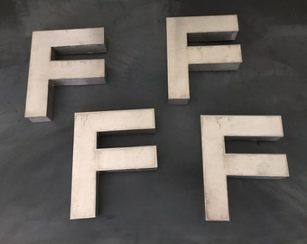 Vintage Metal Letter F - Capital  Letter F - Sign - Initial - Wall Hanging