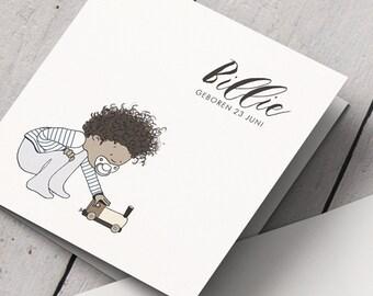 Birth Announcement card Billie