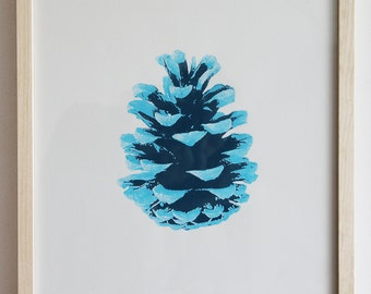 Cone-blue, screen printing