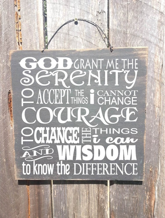 serenity prayer sign, serenity prayer wall art, serenity prayer, recovery gifts, aa recovery, recover gift, addiction, 122/224