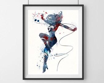 Wonder woman print - super hero - Wonder woman - gift