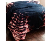 Bohemian Duvet Set in Navy and Coral (King/Queen/Full)