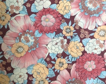 Brown and Pink Retro Floral