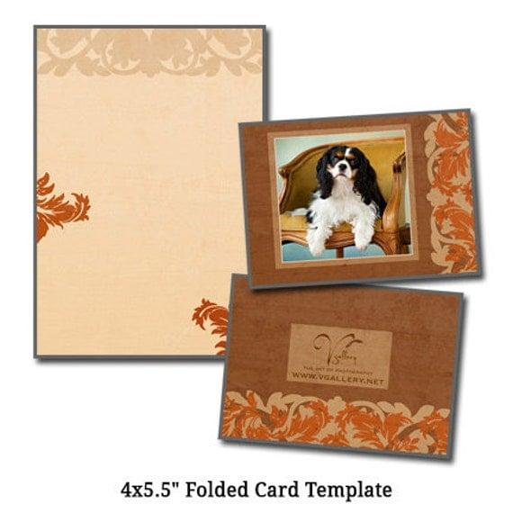 4x5.5 Folded Card Template PET ARTCARD Digital File