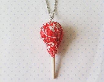 Tootsie-Pop necklace, polymer clay