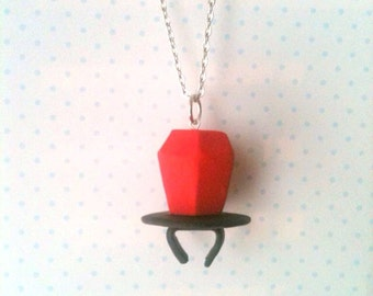 Ring Pop necklace, polymerclay