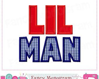 LIL MAN applique,Little man applique,Boys applique,Father's day design,Father's day ,Machine Embroidery. - 06