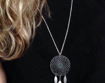 Silver Dreamcatcher necklace