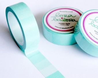 Washi tape Ombré Mint 15mm x 10m