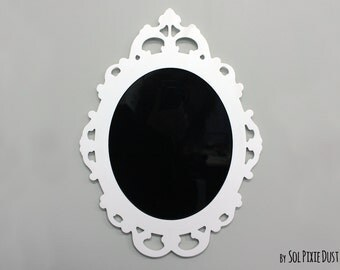 Modern Rococo White Photo Frame - Oval Baroque Picture Frame