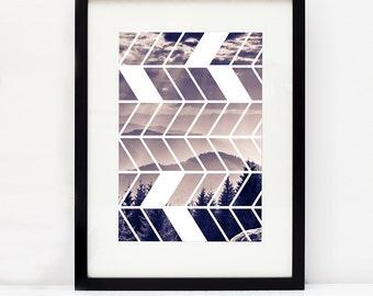 Chevron landscape art print