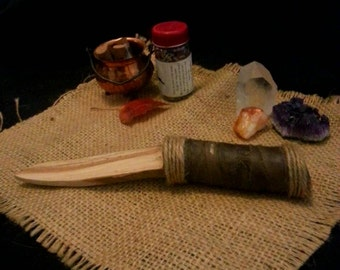 Handmade Rustic Wooden Athame