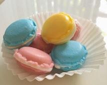 Handmade all natural macaron soap