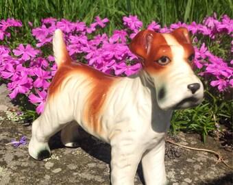 Vintage Porcelain Terrier Dog Figurine
