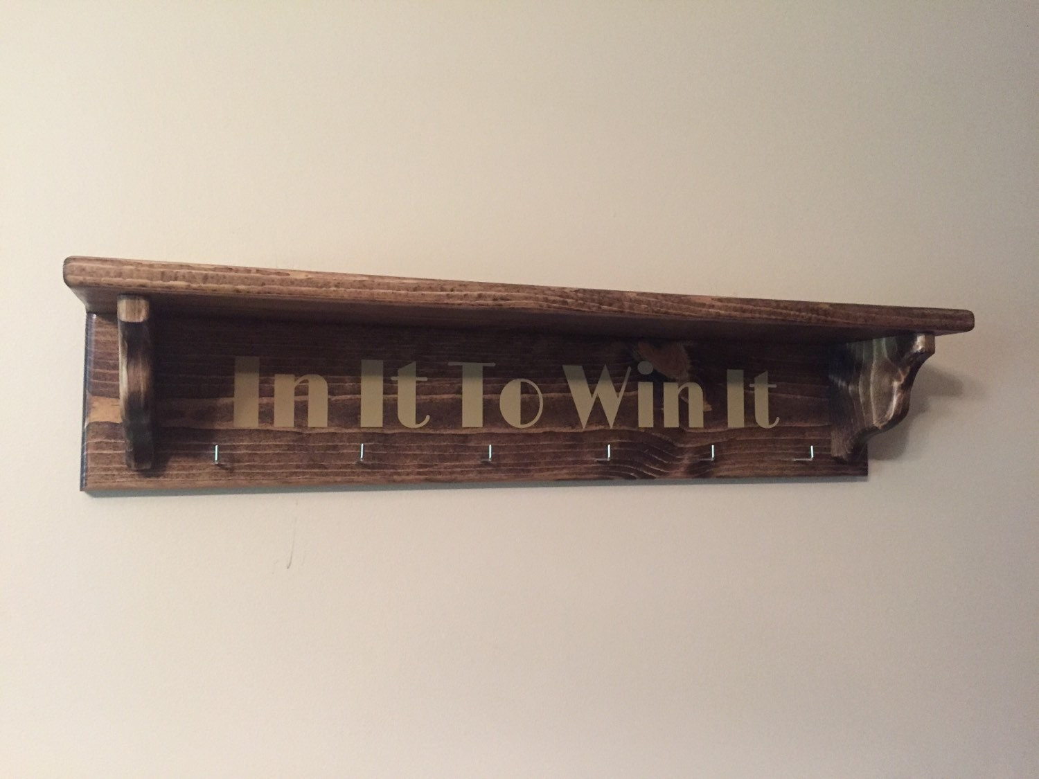 Handmade Wooden Medal Holder And Trophy Rack By