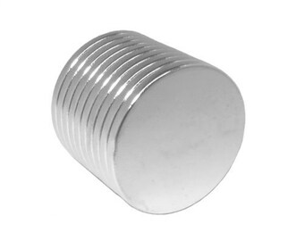 3/4 x 1/16 Inch (19mm x 1.5mm) Strong Neodymium Rare Earth Magnetic Discs, Powerful Craft Disc Magnets, N48 (100 Pack)