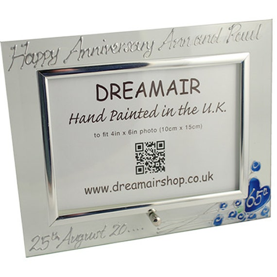 Gifts For 65th Wedding Anniversary: PERSONALISED 65th Blue Sapphire Wedding Anniversary Gifts