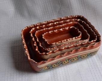 Redware Nesting Bowls (4)