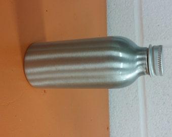 Brushed Aluminum bottle 4 oz. (with cap)