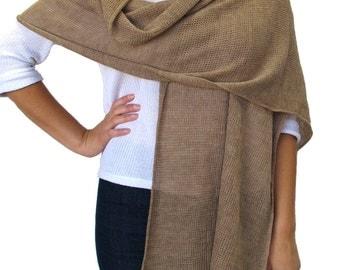 Camel merino wool scarf / wrap