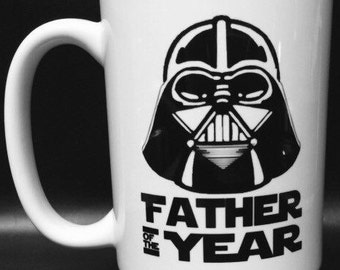 Dishwasher safe! Star Wars Darth Vader Father of the Year Father's Day Coffee Mug.